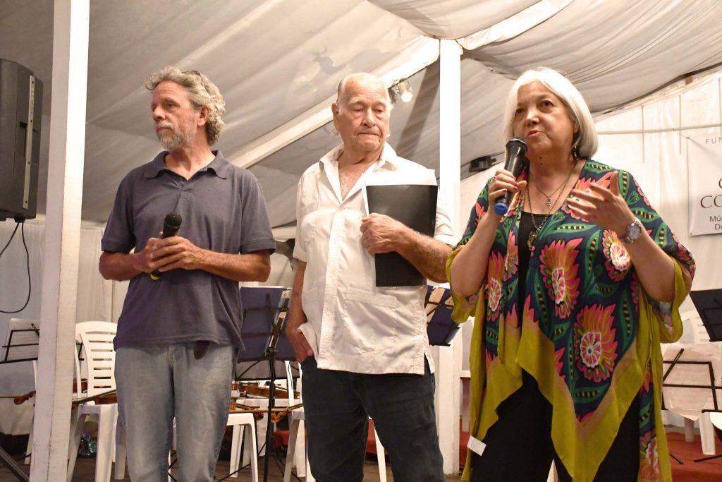 Federico Cappanera, Luciano Gatica y Esther Córdoba, actual presidenta de la Fundación.